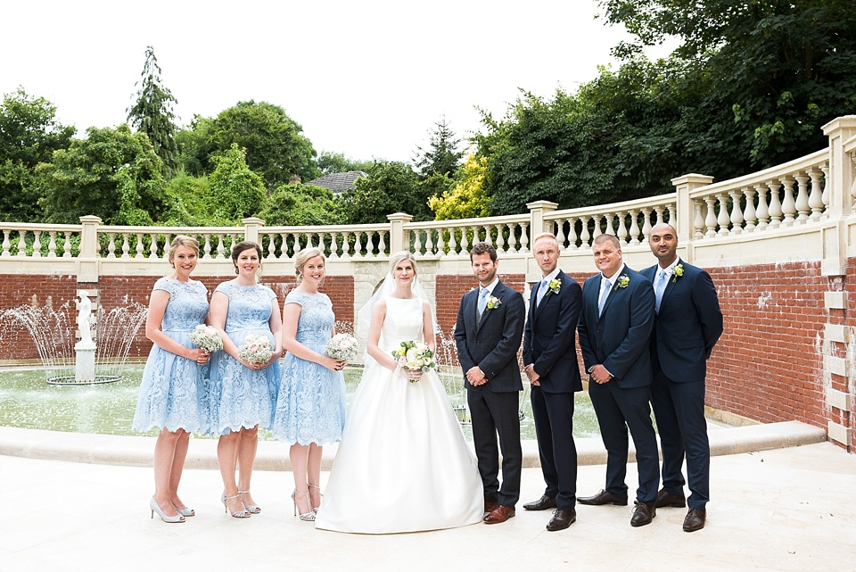 Group wedding portrait Fetcham Park Surrey