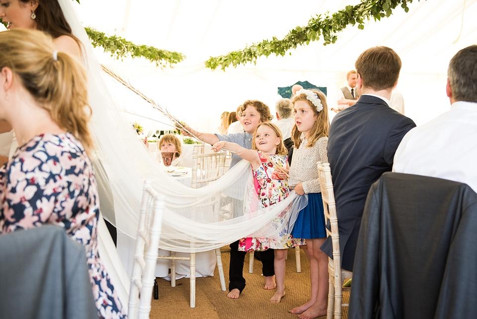 Children having fun at Busbridge Lake wedding Surrey