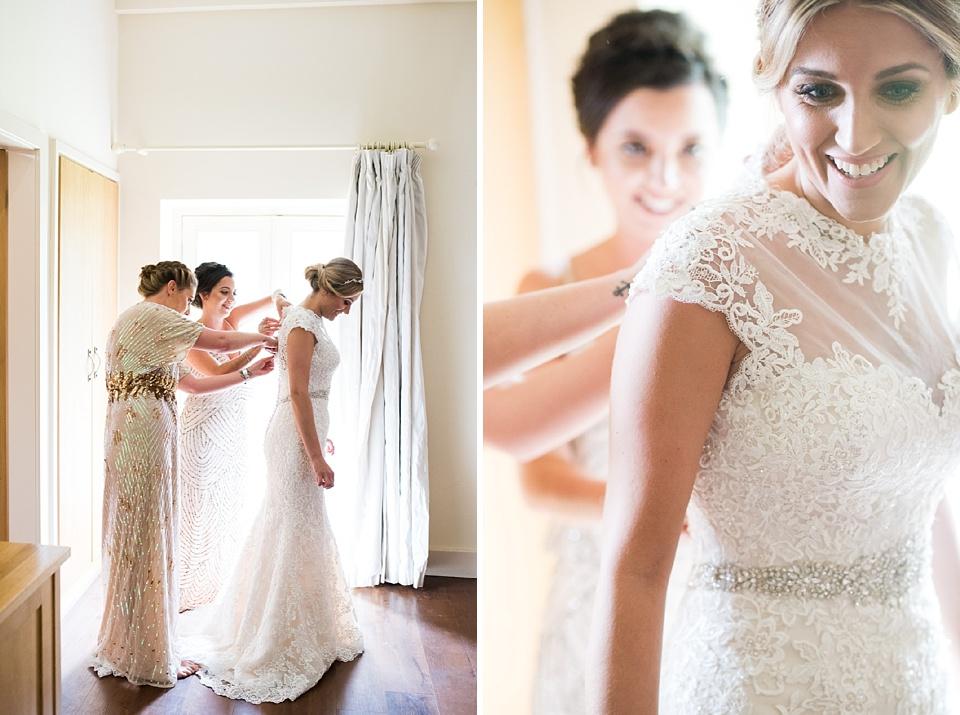 Ronald Joyce bride during wedding morning prep Essex