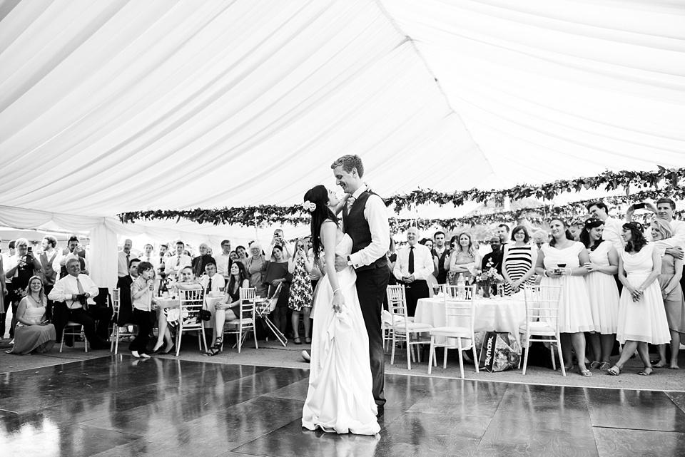 First dance at Busbridge Lake wedding Surrey