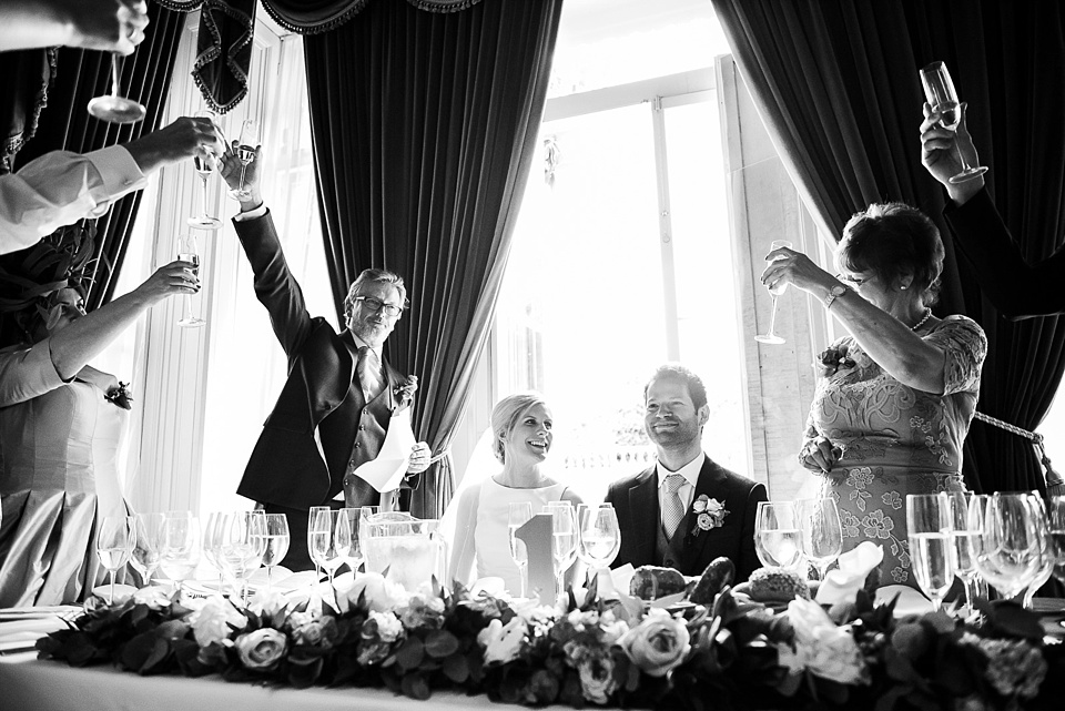 Champagne toast wedding speeches Surrey