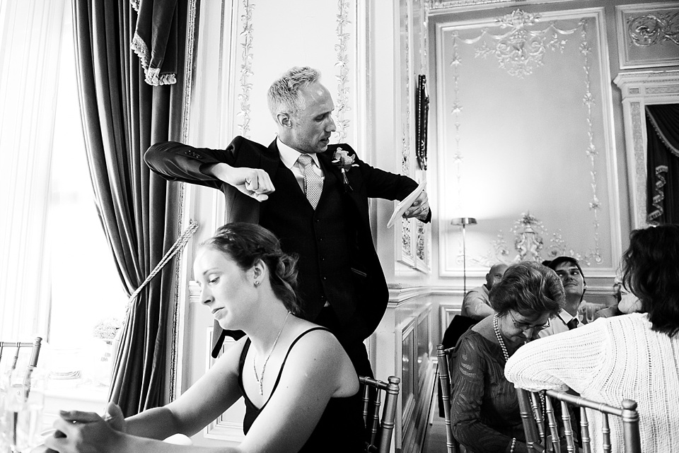 Fun wedding speeches Fetcham Park wedding