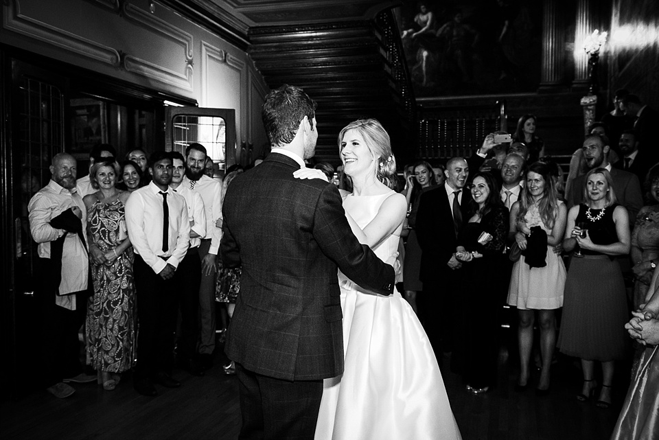 Bride and groom first dance Surrey wedding photography