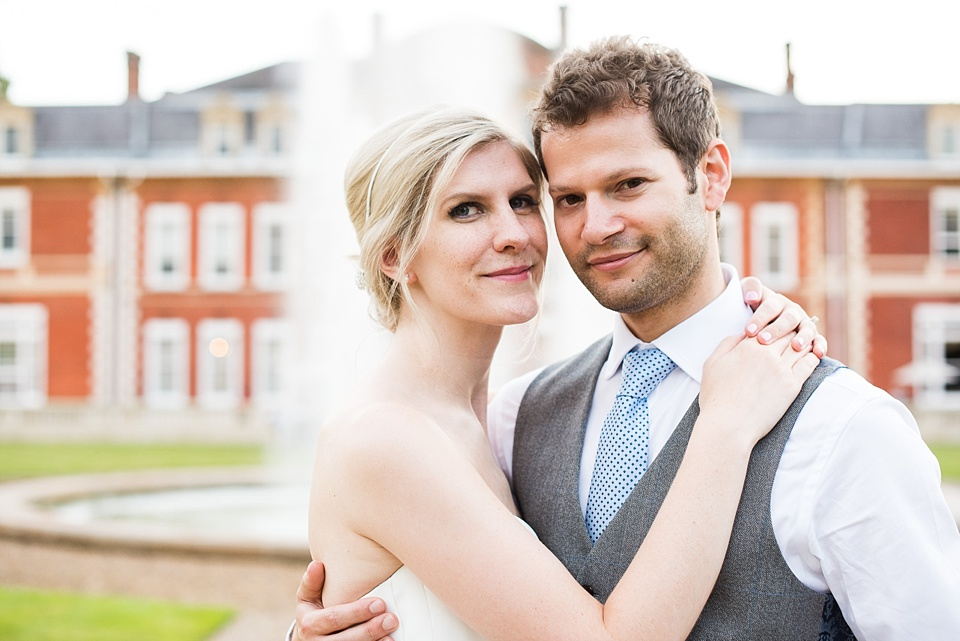 Romantic close up wedding portrait Fetcham Park