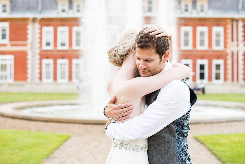Fetcham Park romantic wedding portrait