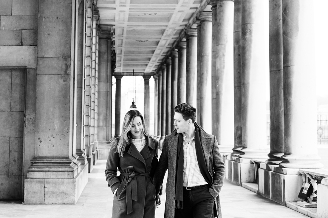 Couple together for engagement photography Greenwich