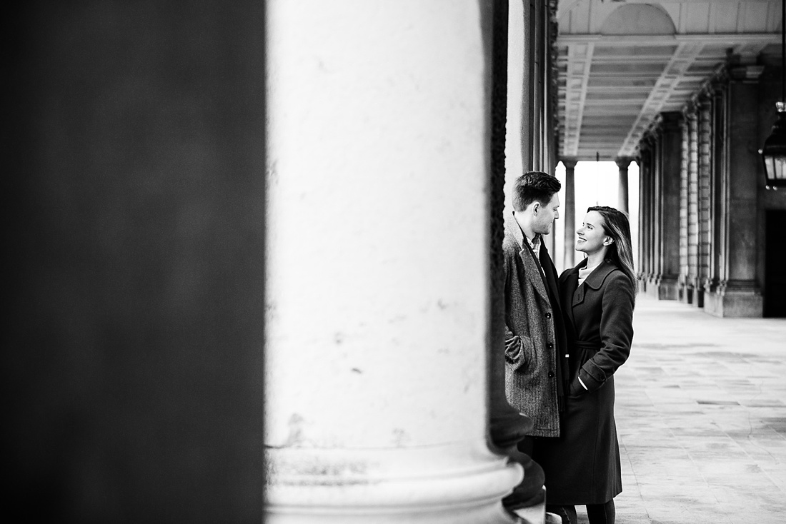 Laid back city engagement photography London