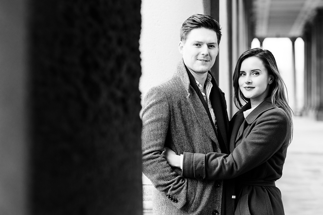 Winter morning engagement photography London