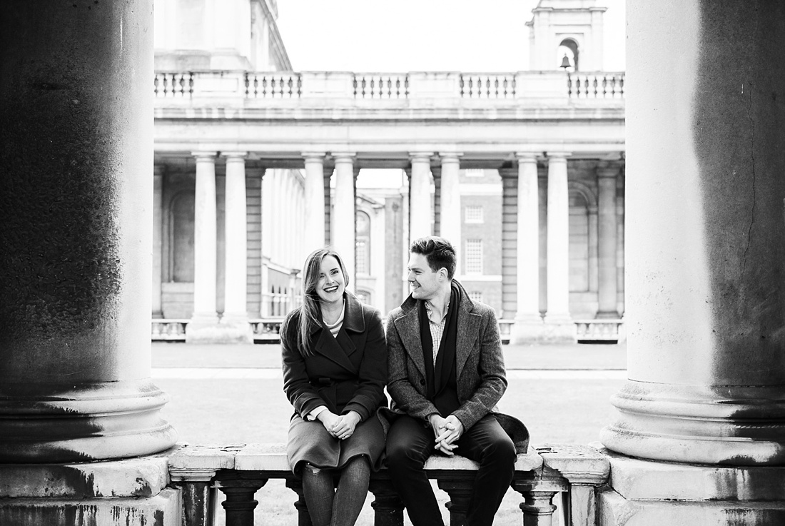 Laid back engagement photography London