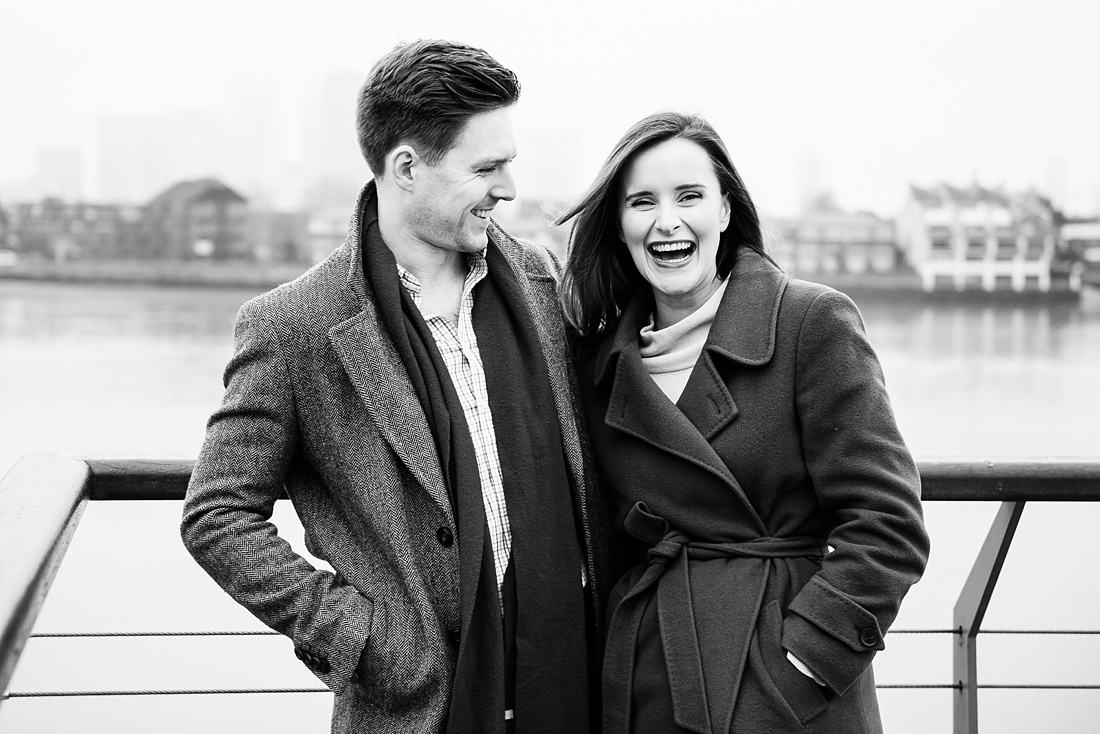 Fun Greenwich engagement portrait