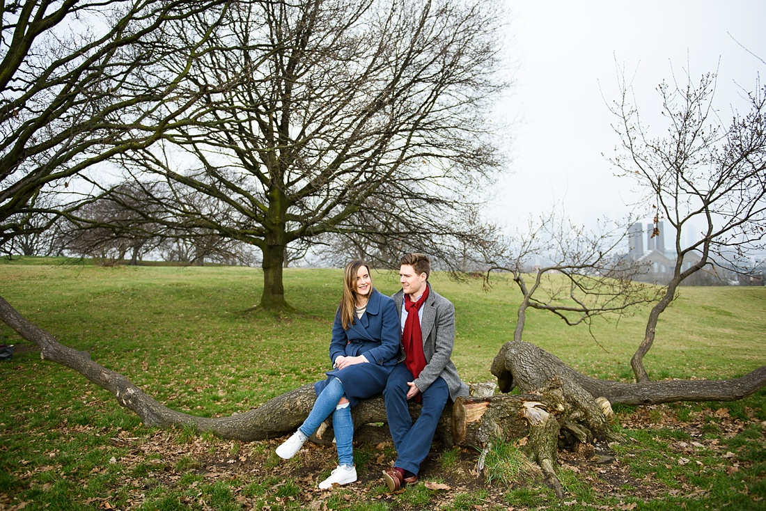 Natural engagement photography London