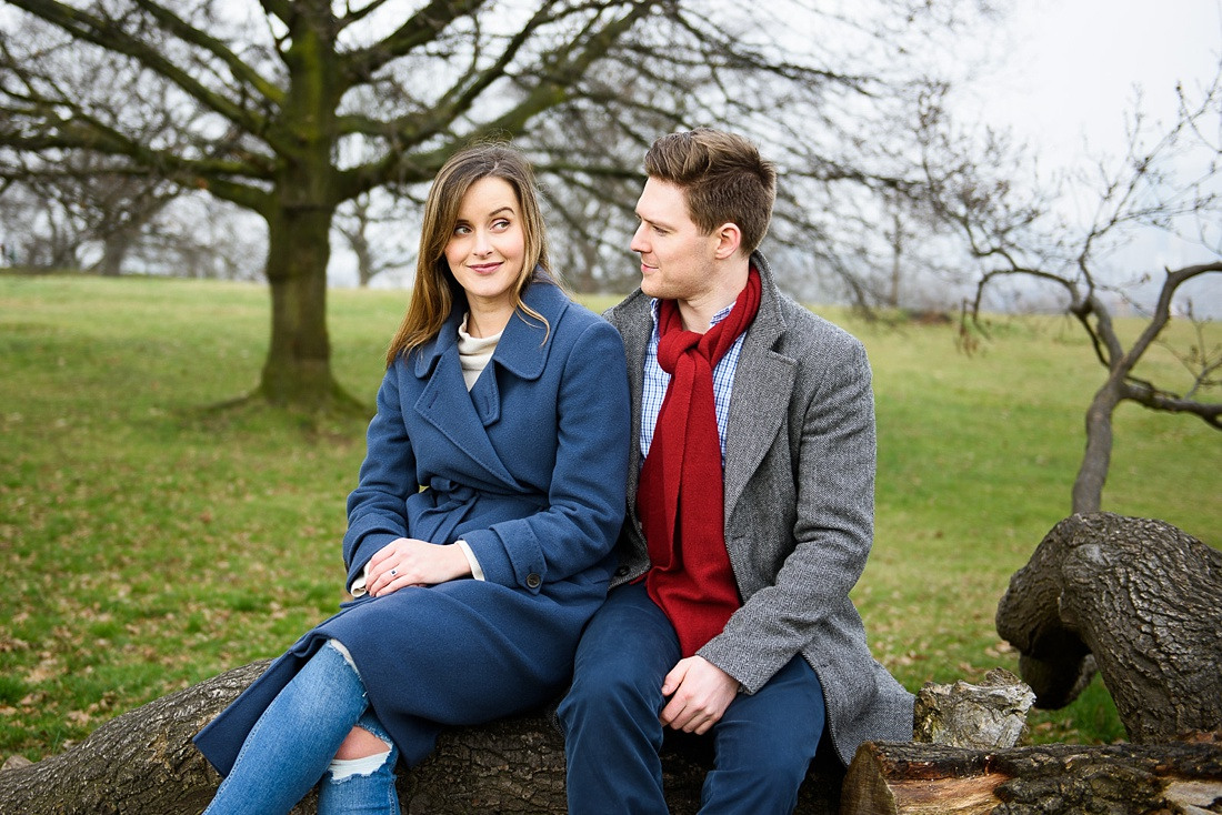 Fun engagement photography Greenwich park London