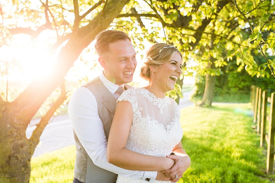 Creative spring wedding portrait Pledgdon Barn Essex