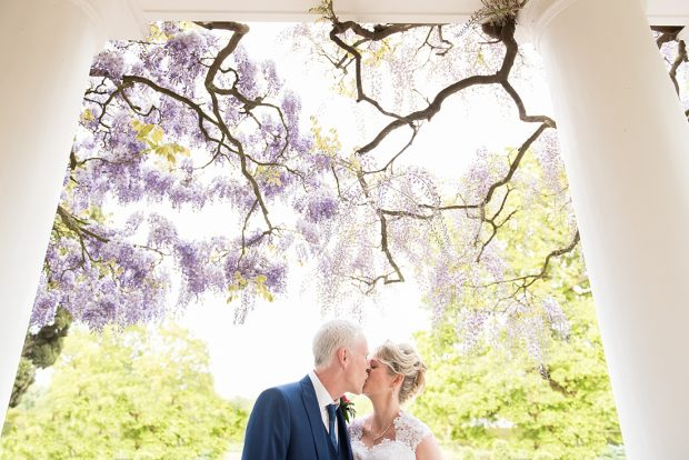 Creative spring wedding portrait Fiona Kelly Photography