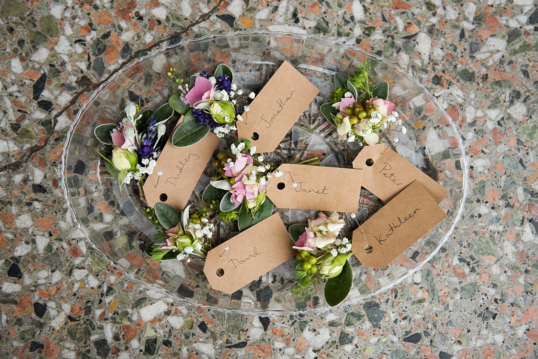 Floral buttonholes Associate Wedding Photographer