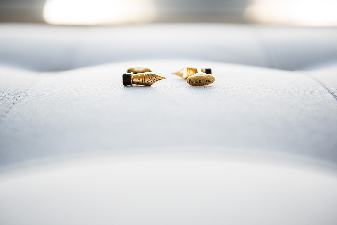 Gold cufflinx for groom Persian wedding ceremony London ceremony
