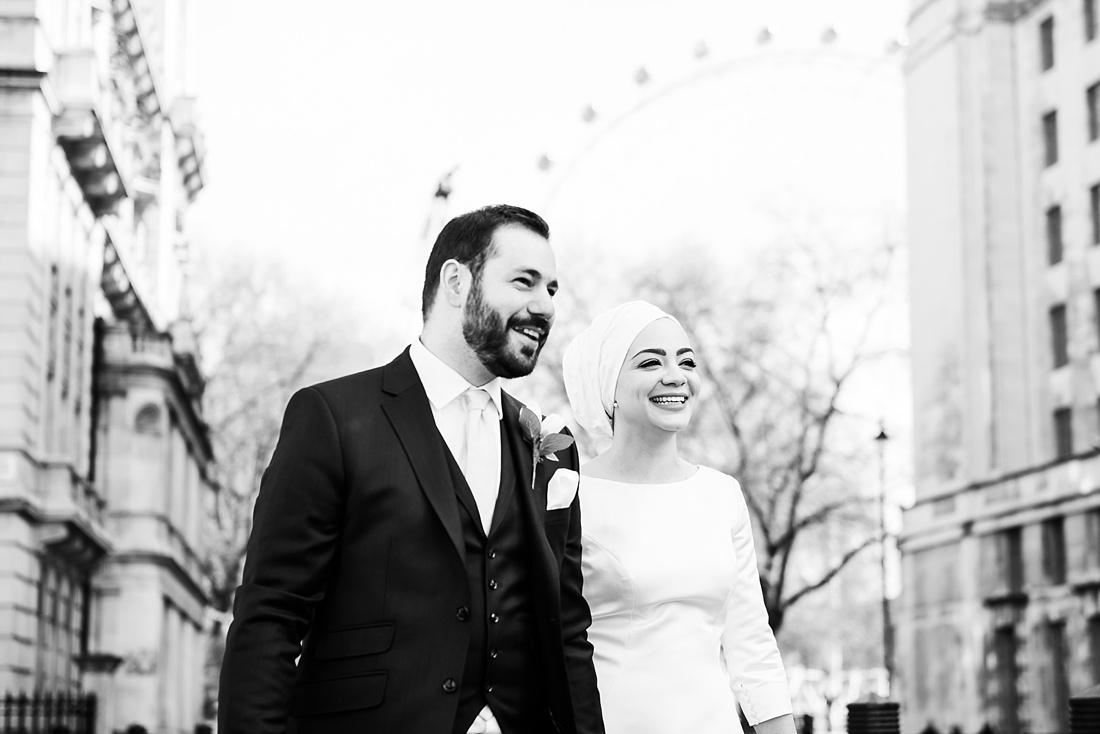 Candid wedding portrait London