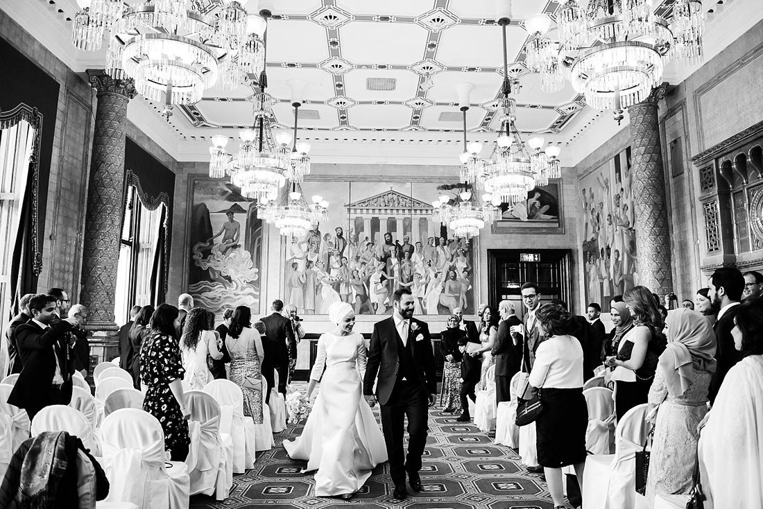 Elegant wedding ceremony One Whitehall Place London