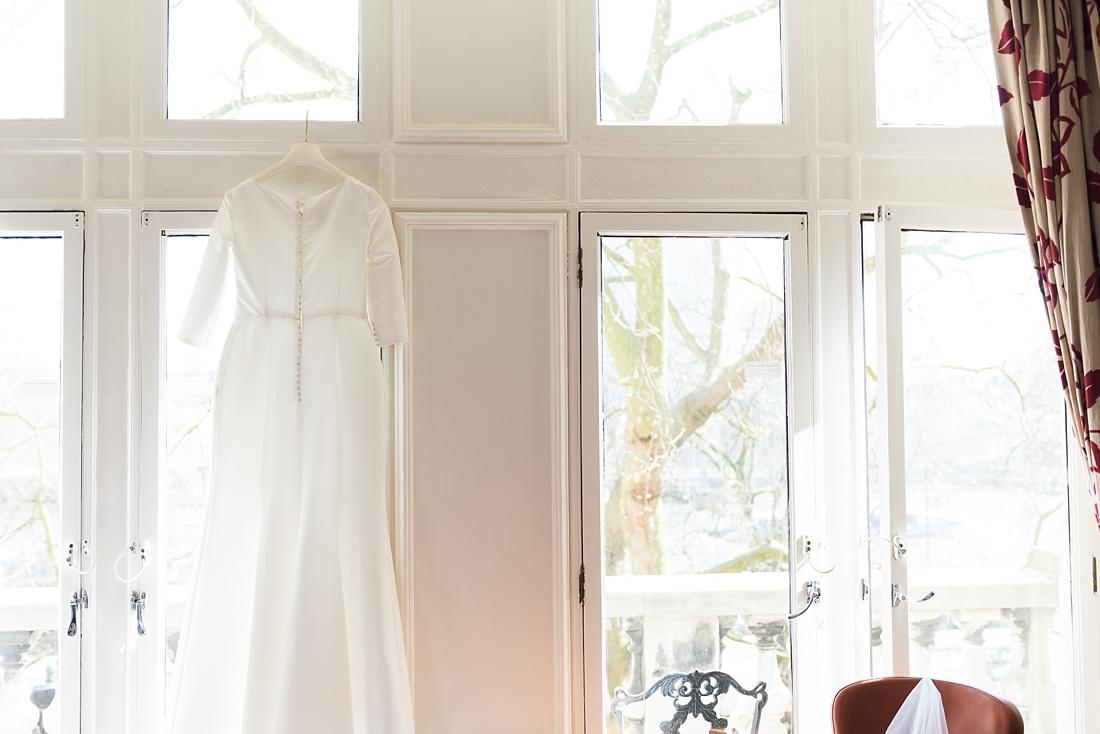 Hanging Pronovias bridal dress London