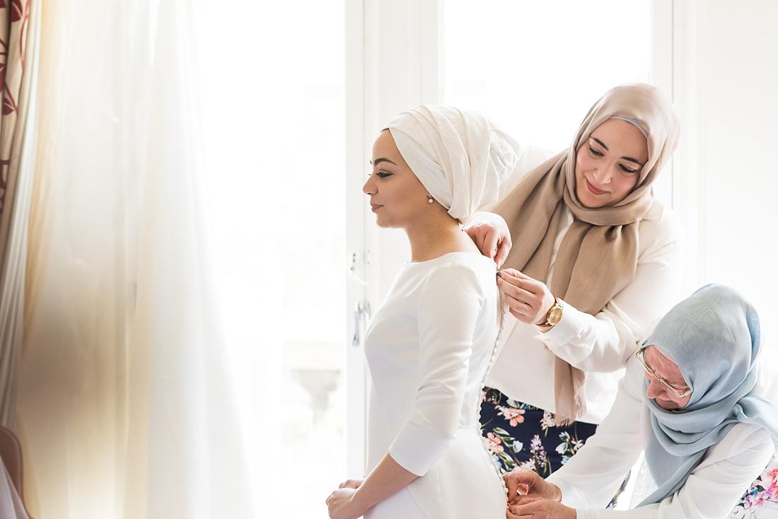 Bridal prep for Persian wedding ceremony London