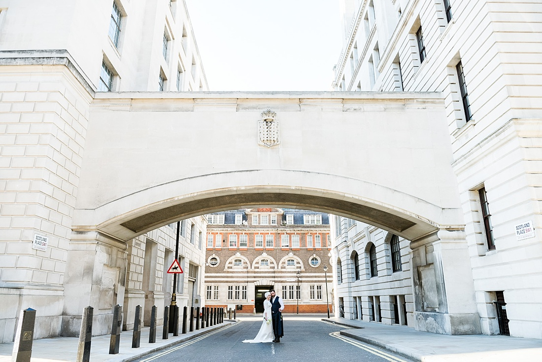 Creative wedding portrait London