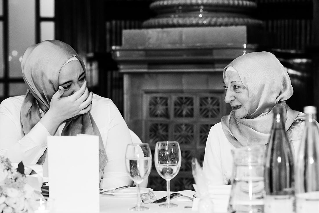 Fun reaction during wedding speech London
