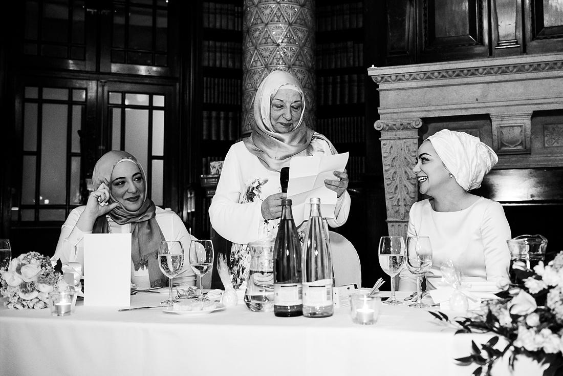 Mum delivers wedding speech London