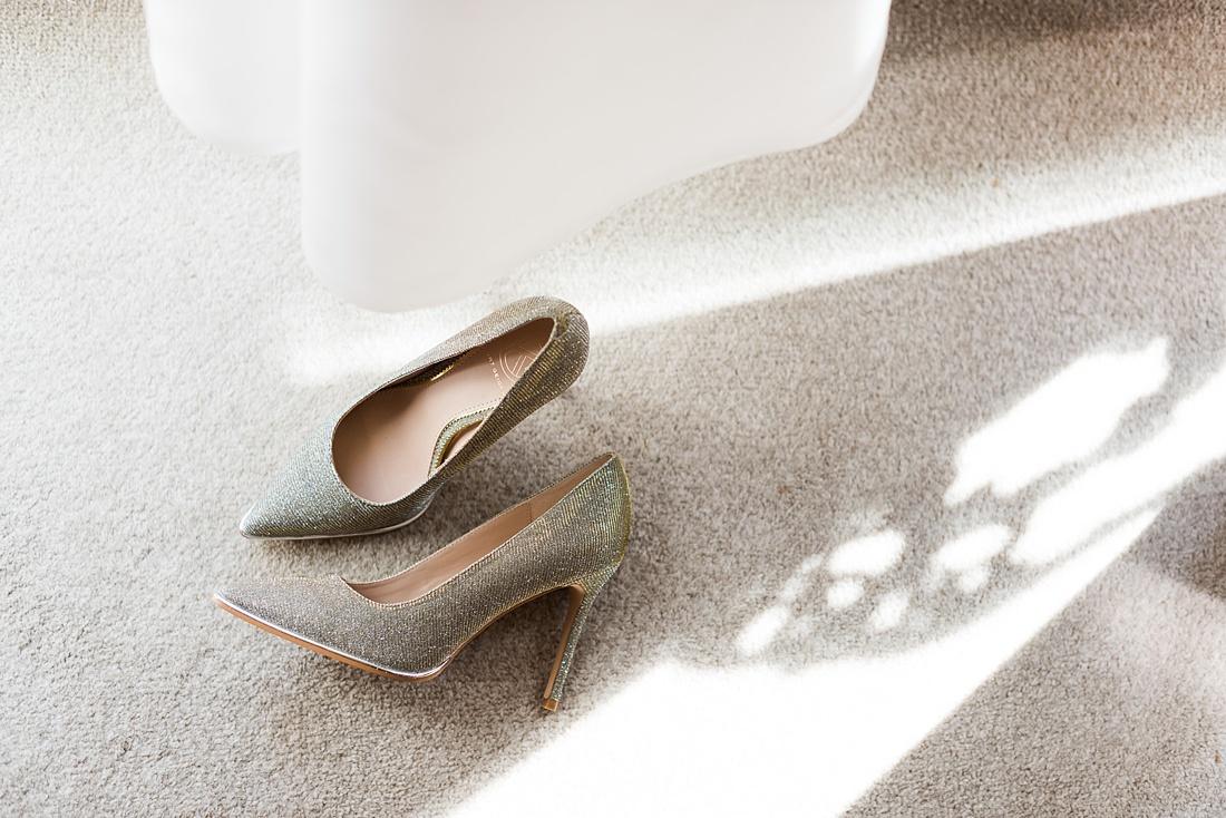 Silver bridal shoes London