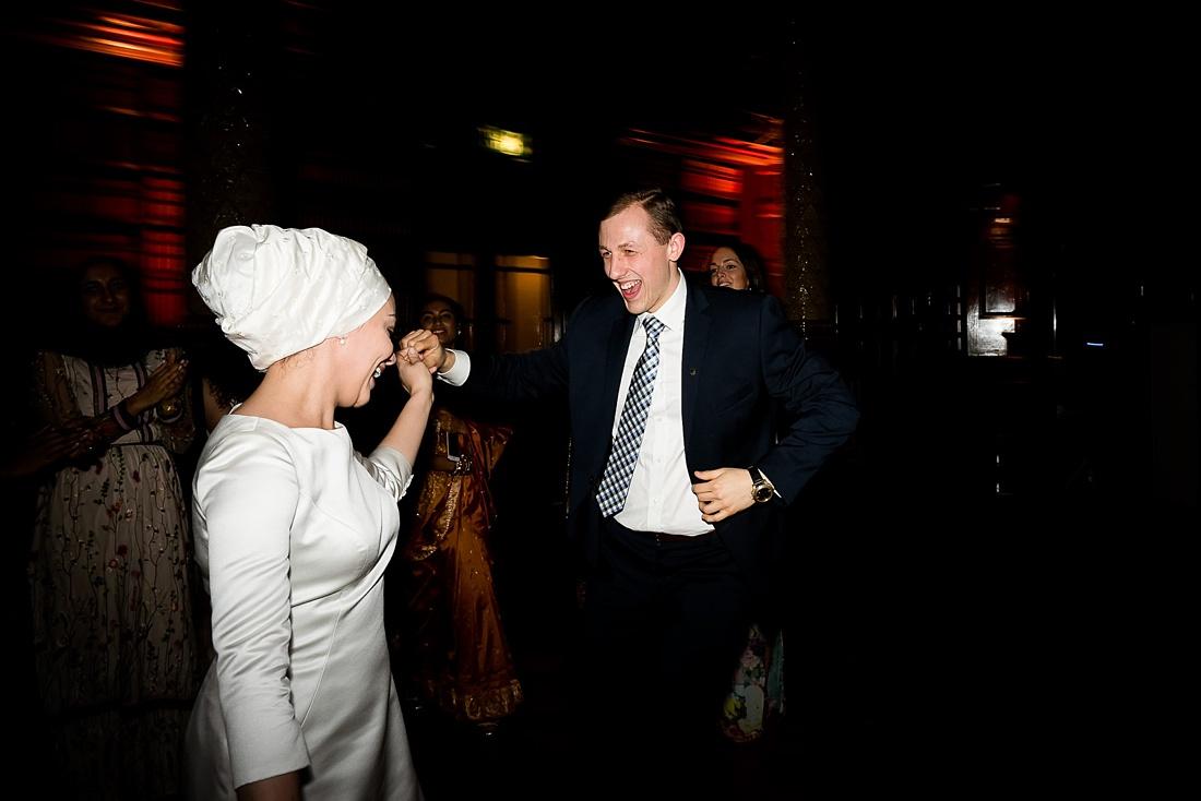 Pronovias bride dancing London wedding