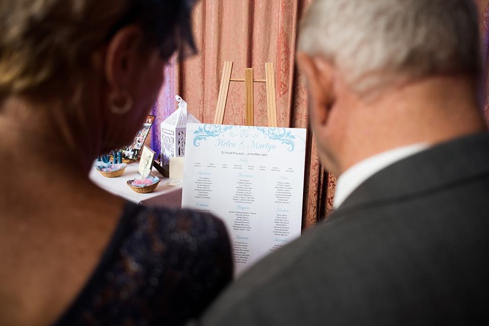 Jumpfox stationery table plan design London wedding