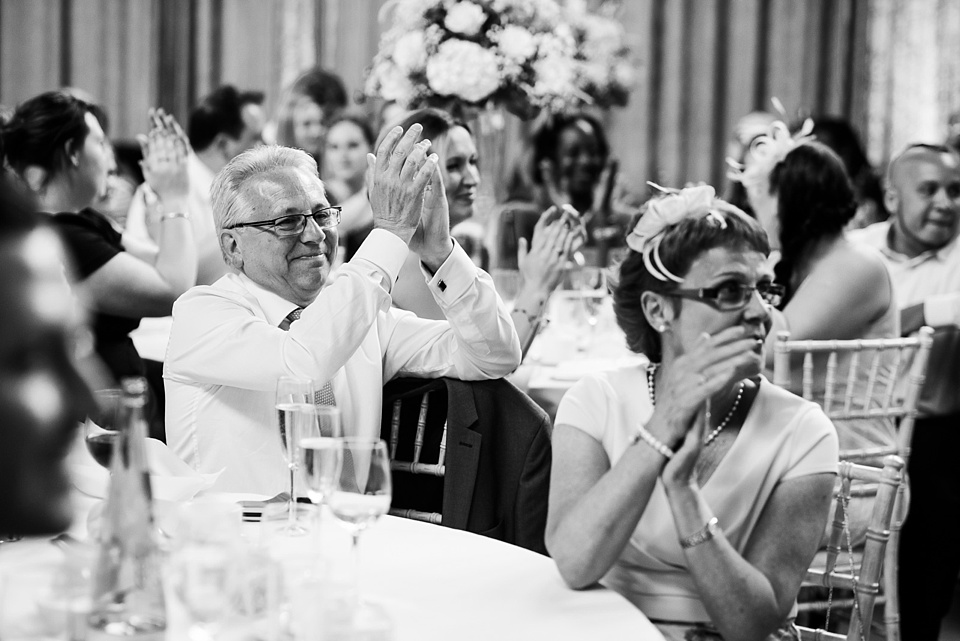 Wedding guests applause wedding speech London