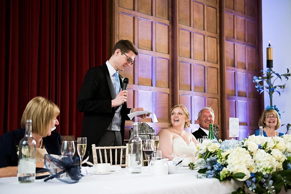 Groom delivers wedding speech London