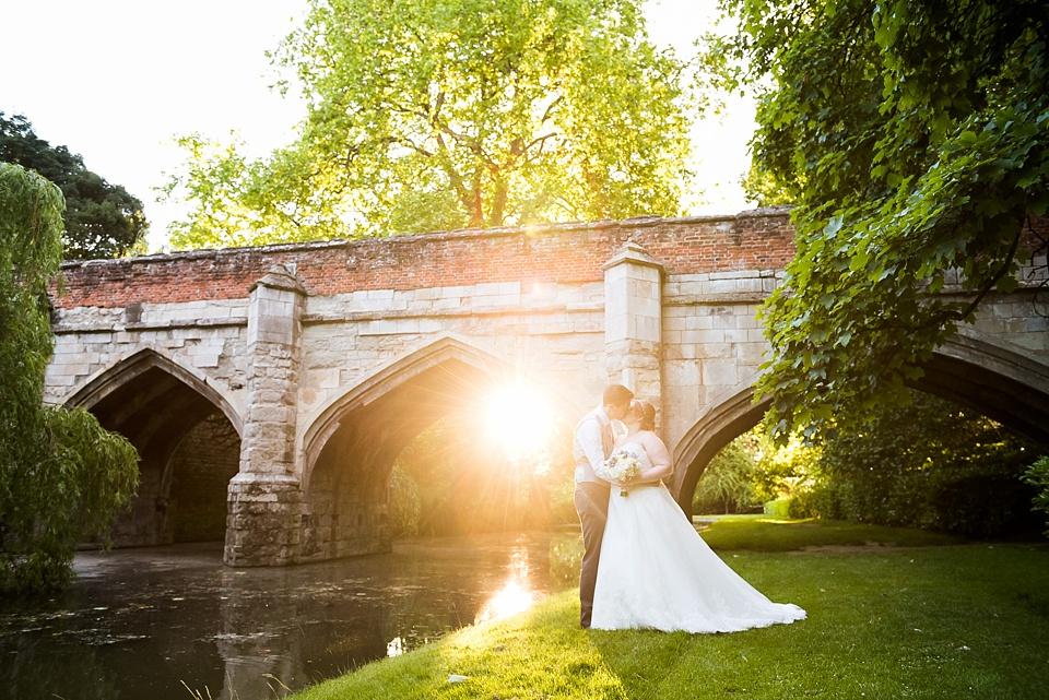 Elegant wedding portrait Eltham Palace London
