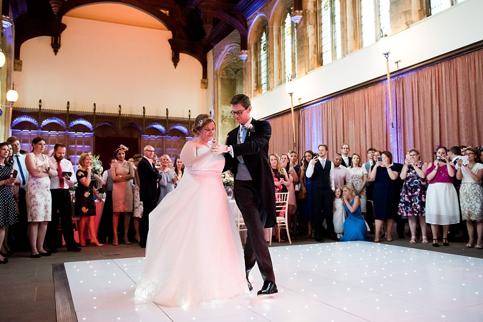 First dance with bride wearing With Love Bridal Eltham Palace wedding London
