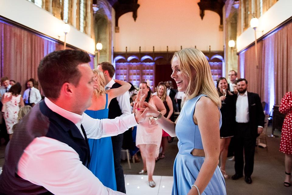 Fun dancing Eltham Palace London wedding