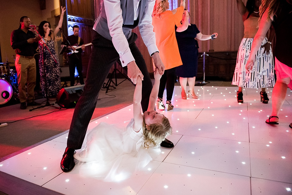 Flower girl dancing with Prelude Entertainment London