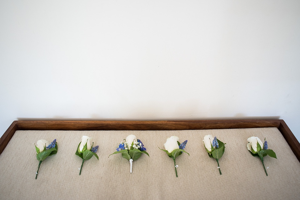 Wedding buttonholes by Mimi Fleur London