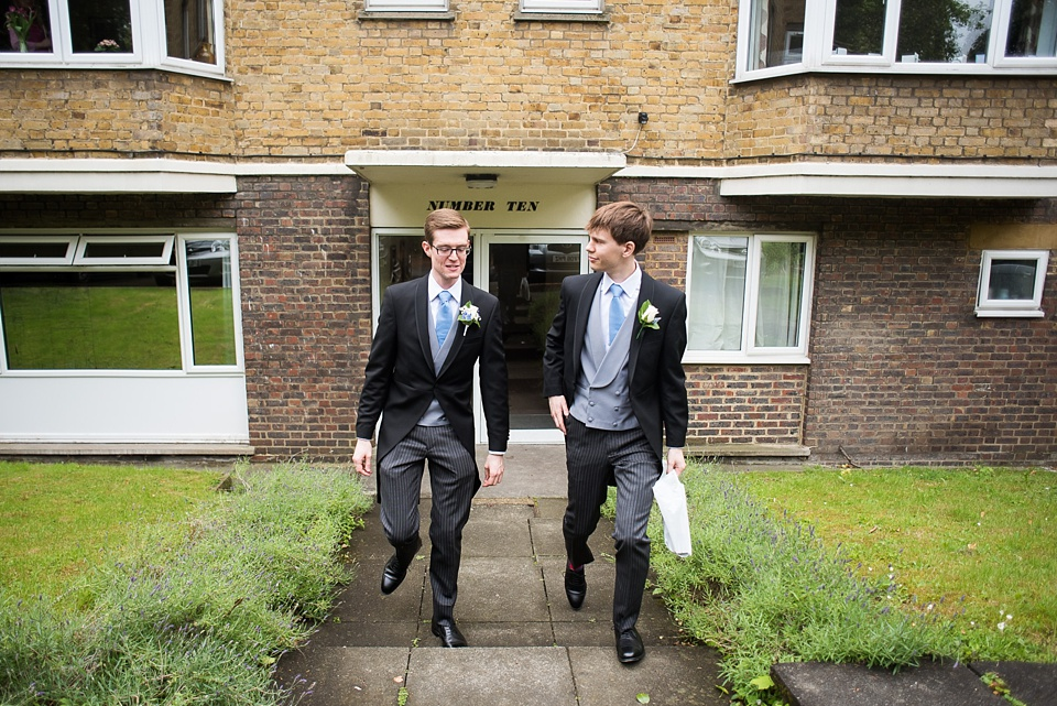 Groom with best man wearing Well Suited pre wedding London