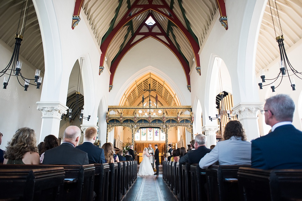 London church wedding celebration