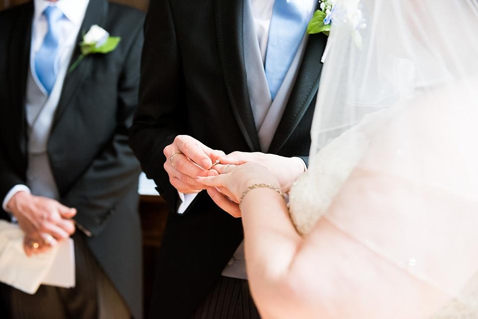 Wedding ring exchange church wedding ceremony London