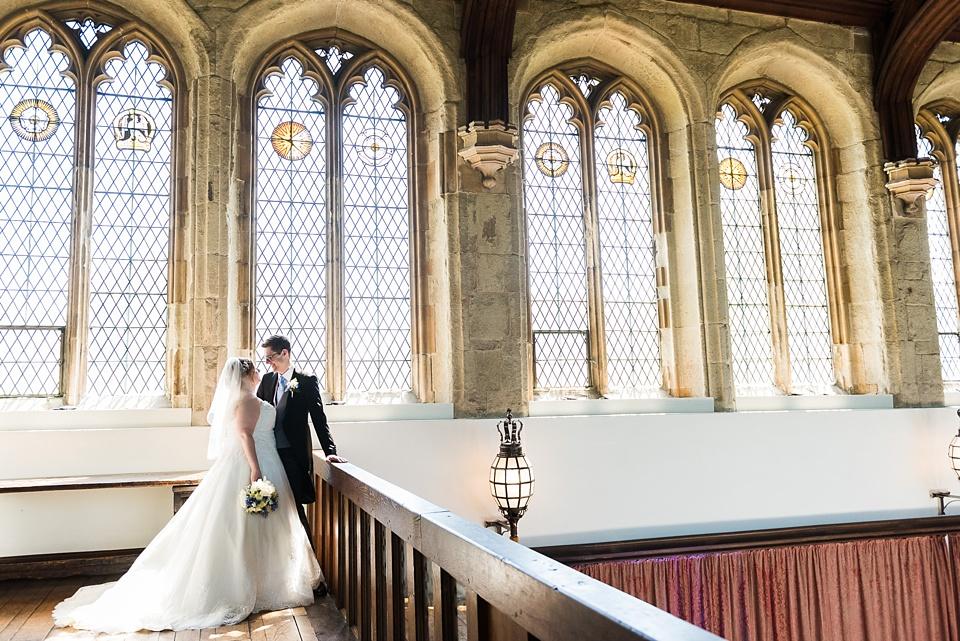 Elegant Eltham Palace wedding portrait London