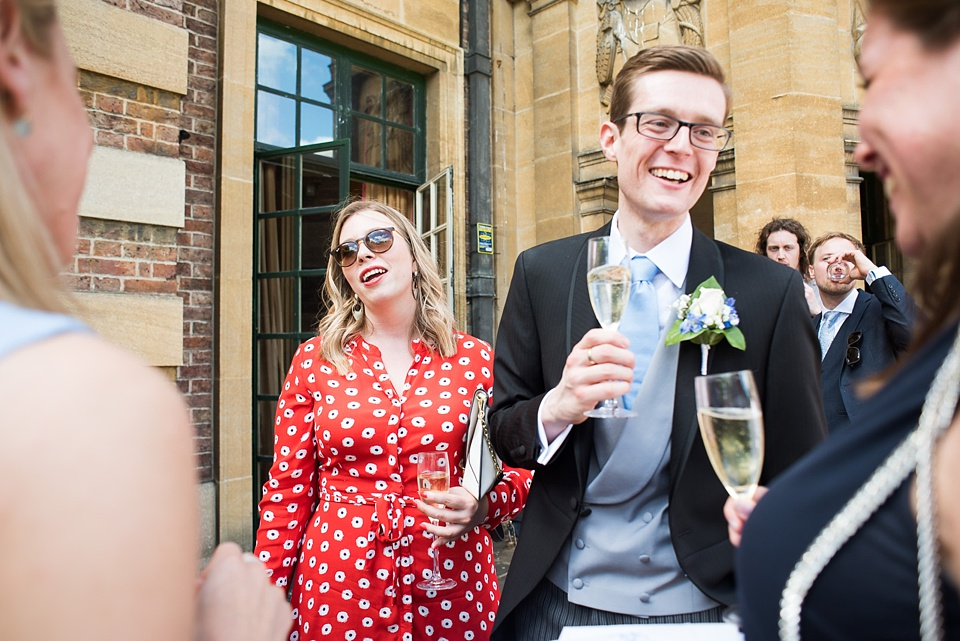 Elegant happy wedding reception Eltham Palace London
