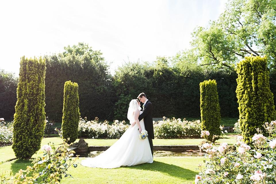 Luxe wedding garden portrait Eltham Palace London