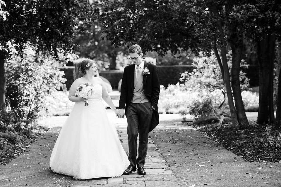 Relaxed wedding portrait bride wearing With Love Bridal groom wearing Well Suited London