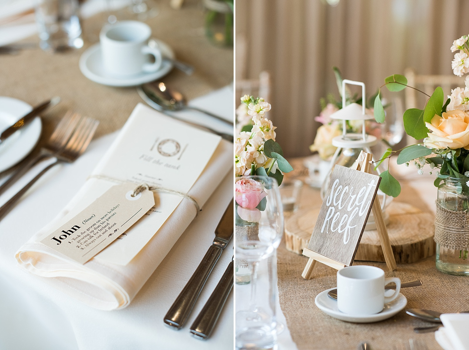 Rustic wedding table decor natural wedding photography