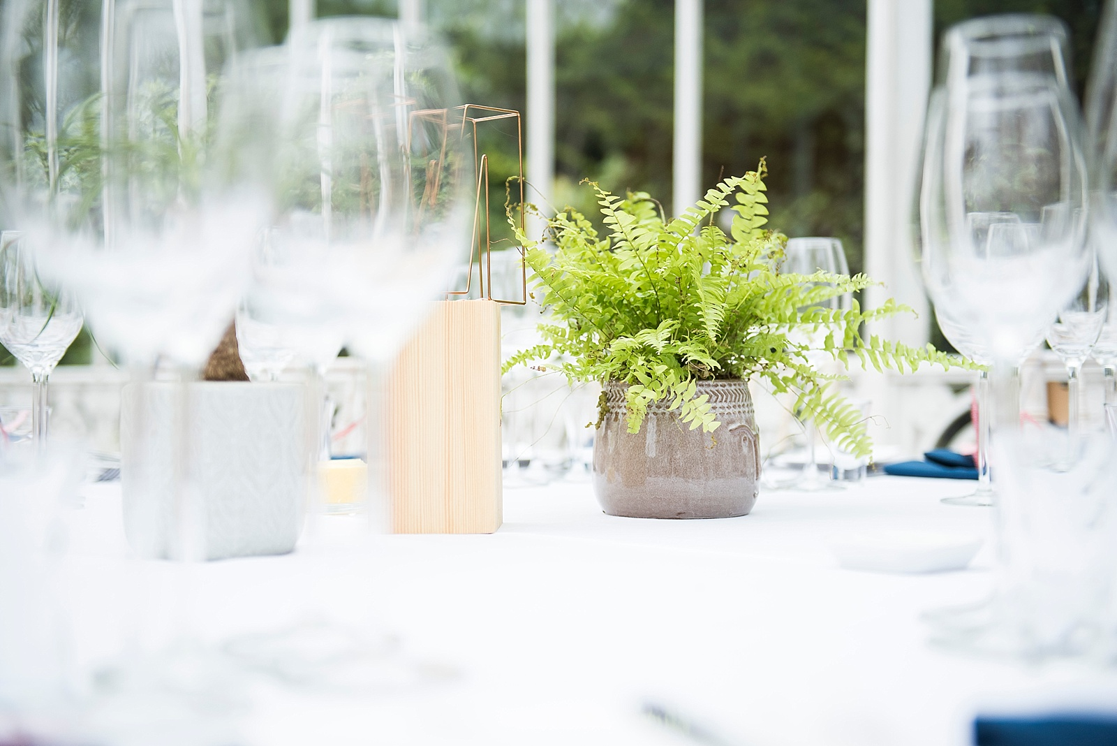 Elegant wedding table centrepieces Fiona Kelly Photography