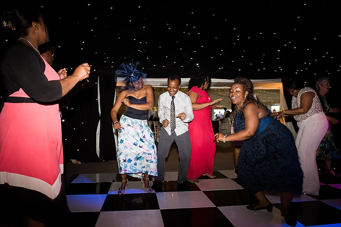 Fun lively Kenyan wedding dance floor