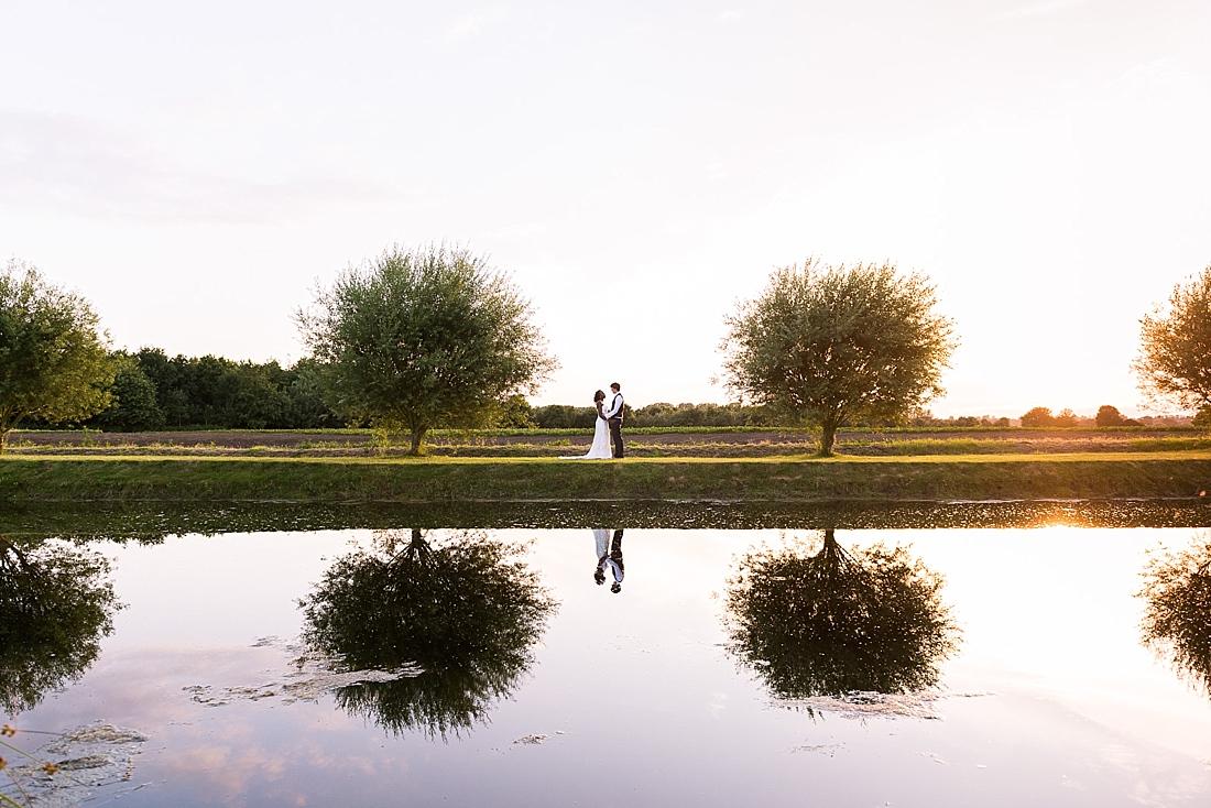 Pretty countryside wedding portrait