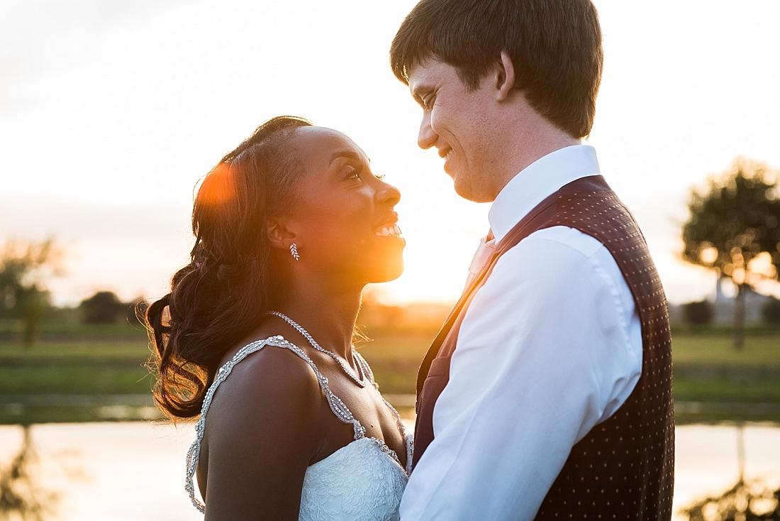 Burr Bridal with Ted Baker groom golden hour wedding portrait