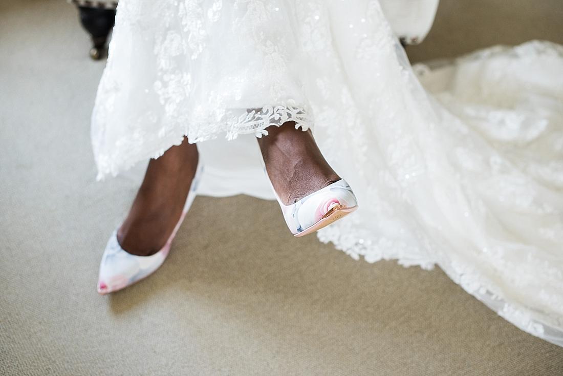 Peep toe bridal shoes pre wedding photography